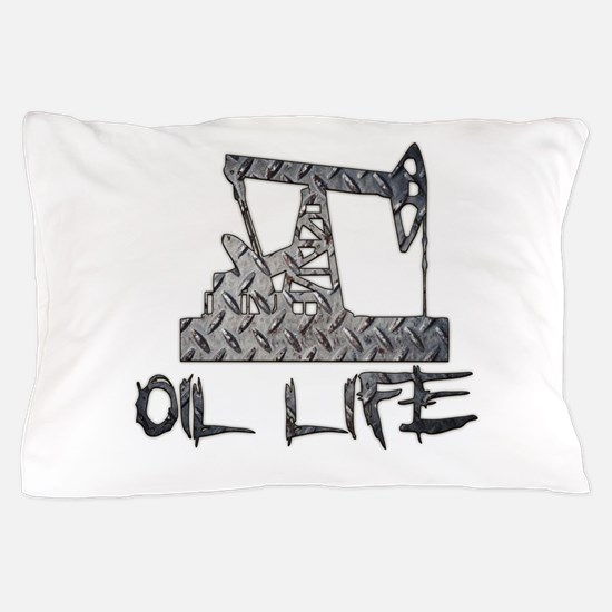 Diamond Plate Oil Life Pumpjack Pillow Case