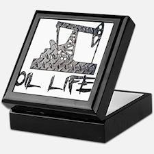 Diamond Plate Oil Life Pumpjack Keepsake Box