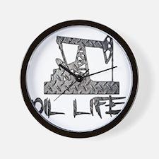 Diamond Plate Oil Life Pumpjack Wall Clock