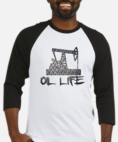 Diamond Plate Oil Life Pumpjack Baseball Jersey