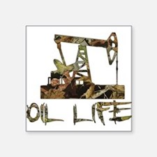 Camo Oil Life Sticker