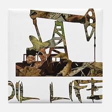 Camo Oil Life Tile Coaster