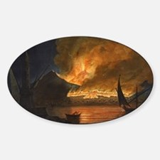 Painting of Erupting Volcano Decal