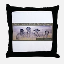 Lewis and Clark collectors Wi Throw Pillow