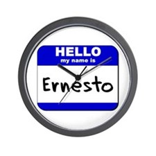hello my name is ernesto  Wall Clock