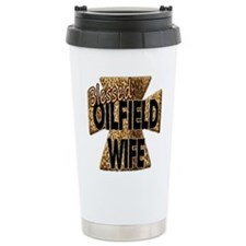 Leopard Print Blessed Oilfield Wife Cross Travel M