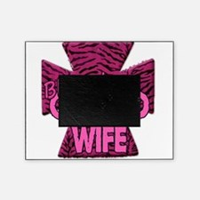 Pink Zebra Cross Blessed Oilfield Wife Picture Frame