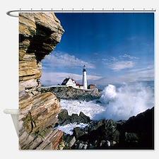 The Lighthouse IV Shower Curtain