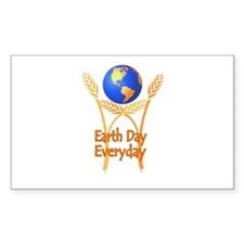 Earth Day Everyday Rectangle Decal
