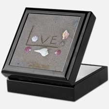 Love in the Sand with Shells Keepsake Box