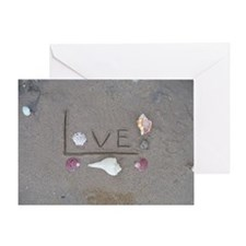 Love on the Beach with Shells Greeting Card