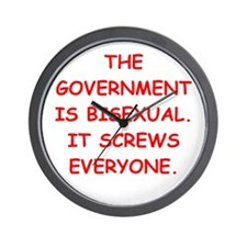 big bad government Wall Clock
