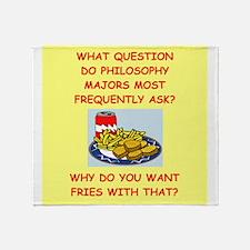 philosophhy Throw Blanket
