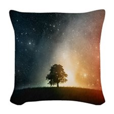 Tree of Life Woven Throw Pillow