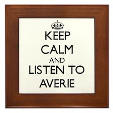 Keep Calm and listen to Averie Framed Tile