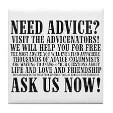 Cute Advicenators Tile Coaster