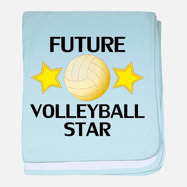 Beach Blanket Volleyball: Future Volleyball Player Baby Blankets