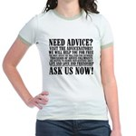 Ask Us Now Women's Ringer T-Shirt
