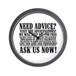 Ask Us Now Wall Clock