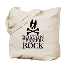 Boston Terriers Rock Tote Bag