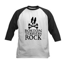 Boston Terriers Rock Kids Baseball Shirt