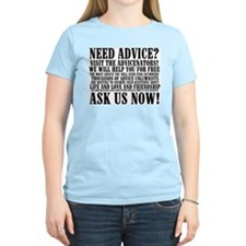 Ask Us Now Women's Pink T-Shirt