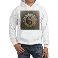 Yin Yang in tan colors with tree of life. Hoodie