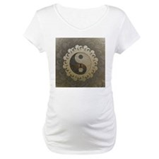 Yin Yang in tan colors with tree of life. Maternit