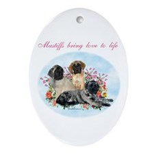 Mastiffs bring Oval Ornament