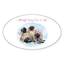 Mastiffs bring Oval Decal