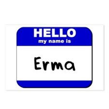 hello my name is erma  Postcards (Package of 8)