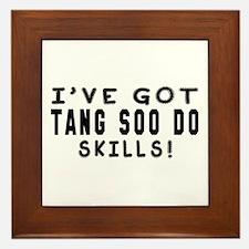 Tang Soo Do Skills Designs Framed Tile
