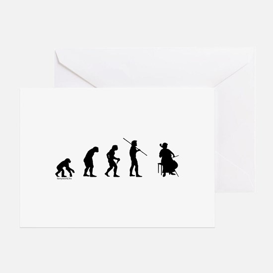 Cello Evolution Greeting Cards