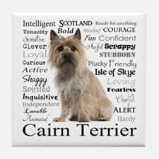 Cairn Terrier Traits Tile Coaster