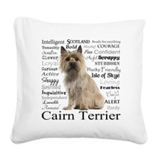Cairn Terrier Traits Square Canvas Pillow