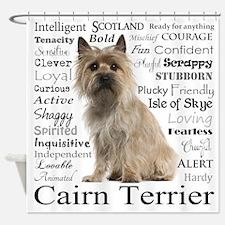 Cairn Terrier Traits Shower Curtain