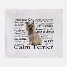 Cairn Terrier Traits Throw Blanket