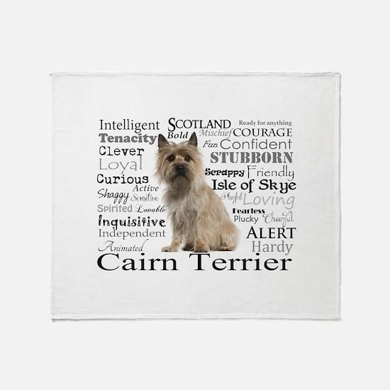 Cairn Terrier Traits Throw Blanket