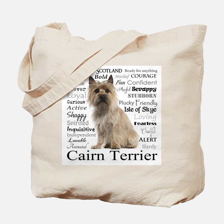 Cairn Terrier Traits Tote Bag
