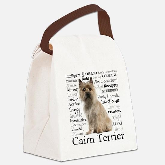 Cairn Terrier Traits Canvas Lunch Bag