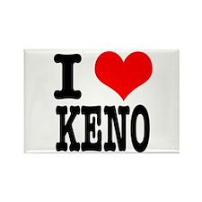 I Heart (Love) Keno Rectangle Magnet