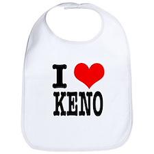 I Heart (Love) Keno Bib