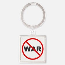 Stop War Square Keychain