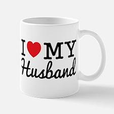 I Love My Husband (Black text) Mug
