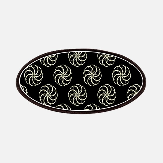 Cream & Black Damask #38 Patches
