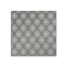 "Cream & Black Damask #38 Square Sticker 3"" x 3"""