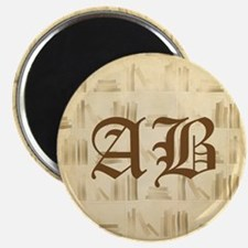 Vintage Style Custom Monogram Magnets