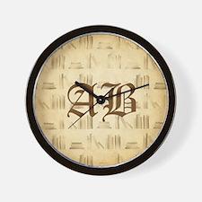 Vintage Style Custom Monogram Wall Clock