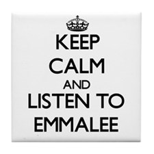 Keep Calm and listen to Emmalee Tile Coaster