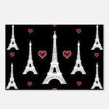 Trendy I Love Paris Postcards (Package of 8)